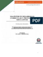 Magíster en Desarrollo Curricular 2017