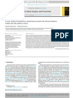 A Case Study of Machinery Maintenance Protocols and Procedureswithin the UK Utilities Sector