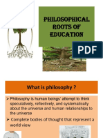 Philosophical Roots of Education (1)