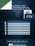 Diapos Evaluación de Clima y Cultura Organizacional de La
