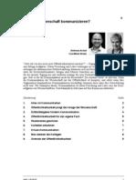 A. Archut, E.-m. Streier, Warum Wissenschaft Kommunizieren