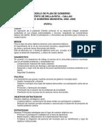 Formato de Plan de Gobierno Municipal