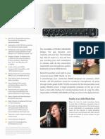 BEHRINGER_UMC404HD P0BK1_Product Information Document