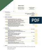 melissa flood resume