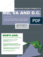 Differences Between Social Security Disability in Maryland, Virginia and D.C.