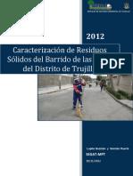 Caracterizacion de Residuos de Barrido Distrito Trujillo