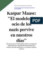Kaspar Maase El modelo de ocio de los nazis pervive en nuestros días