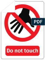 Do Not Touch Letter