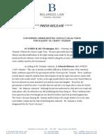 El Chapo Press Release - Contact Visits (1)