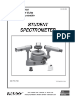 Student Spectrometer Manual SP 9268A