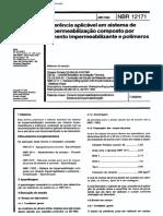 NBR 12171 - 1992 - MB 3512 - Aderencia Aplicavel Em Sistema de Impermeabilizacao Composto Por Cimento Impe