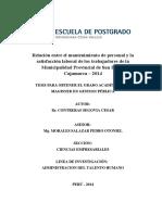 237536630 Tesis Mantenimiento de Personal y Satisfaccion Laboral Sustentada