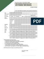 PO No.001 Tahun 2015 Tentang Registrasi Anggota - Form Registrasi