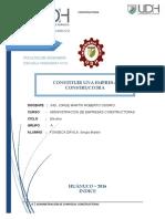 Trabajo de Administracion- Conformacion de Una Empresa