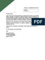 Formato de Carta de Expresion de Interes