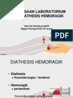 2.2.3.2 Pemeriksaan Laboratorium Pada Diatesis Hemoragik