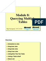 Module 08 Querying Multiple Tables