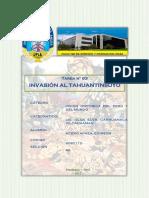 Invacion Al Tahuantinsuyo