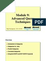 Module 09 Advance Query Techniques