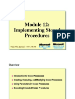 Module 12 Implementing Stored Procedures