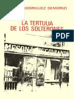 La Tertulia de Los Solterones. Libro