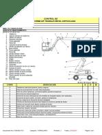 Check List Para Control de Plataformas