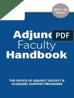 adjunct faculty handbook 2017-18 digital