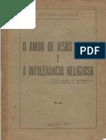 O Amor de Jesus Cristo e a Intolerância Religiosa