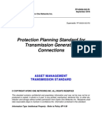 Protection Planning Standard for Transmission Generation Connections