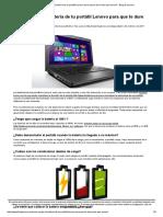 ¿Cómo Cargar La Batería de Tu Portátil Lenovo Para Que Te Dure Más Que Nunca_ - Blog de Lenovo