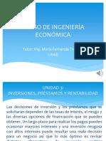 Unidad 3 Curso de Ingeniería Económica UNAD