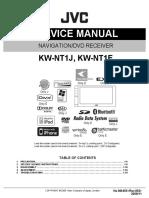 Jvc Kw-nt1e Kw-nt1j Navigation Dvd Receiver 2009 Sm