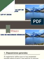 LEY DE RECURSOS HIDRICOS LEY N° 29338