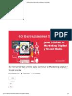 40 Herramientas Online Vitales en Marketing y Social Media