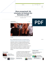 'Aluno Excepcional', Diz Orientador de Andreas Von Richtofen Na USP - Jornal O Globo