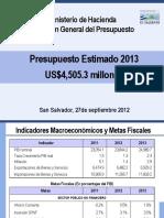 presentacion presupuesto
