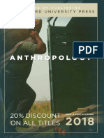 Anthropology 2018 Catalog