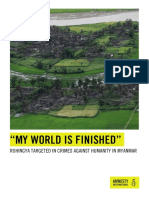 """""""MY WORLD IS FINISHED"""" ROHINGYA TARGETED IN CRIMES AGAINST HUMANITY IN MYANMAR"""