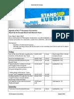 Agenda of Convention Nov 3- Nov 5