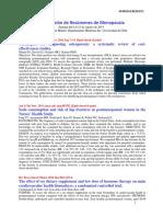 Selección de Resúmenes de Menopausia Semana del 6 al 12 de Agosto de 2014
