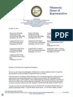 Letter to Minnesota Congressional Delegation 10.19.2017