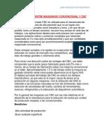 Diferencias Entre Maquinado Convencional y Cnc
