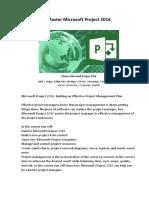 Master Microsoft Project 2016