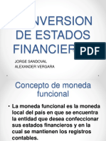 Conversion de Estados Financieros