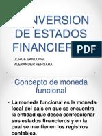 Conversion de Estados Financieros