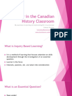 inquiry in the canadian history classroom