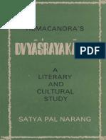Hemacandra Dvyasrayakavya_LIterary and Cultural Study by Satya Pal Narang