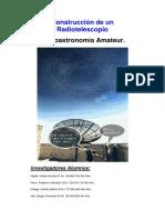 Construcción de Un Radiotelescopio