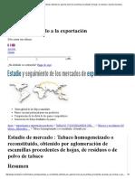 Tabaco homogeneizado o reconstituido, obtenido por aglomeración de escamillas procedentes de hojas, de residuos o de polvo de tabaco.pdf