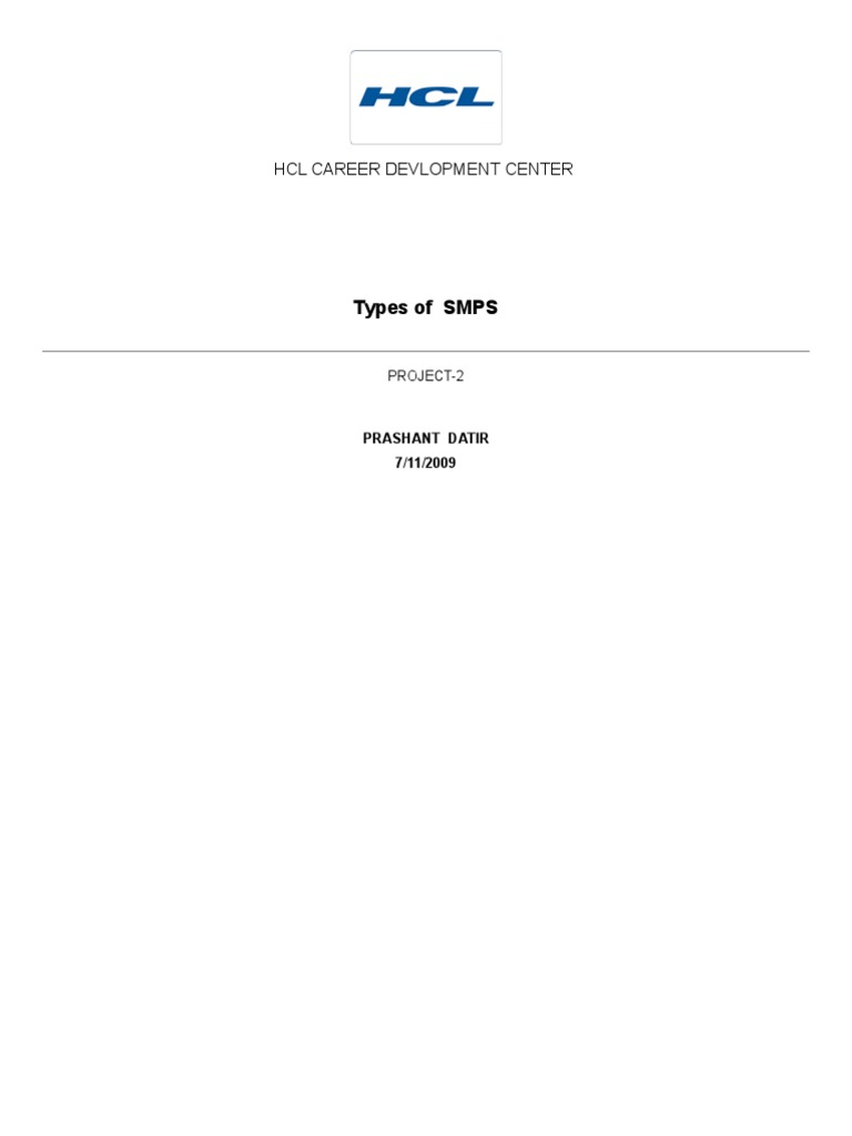 19829961-Types-of-SMPS | Direct Current | Power Supply
